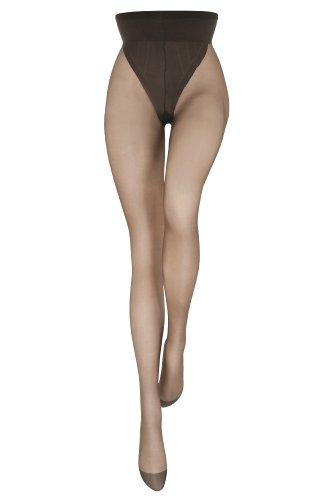 Le Bourget - Medias 15 den para mujer, talla 37/41, color marrón...
