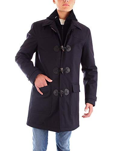 Luxury Fashion | Corneliani Heren 842AG49820147BLUE Donkerblauw Polyester Mantels | Herfst-winter 19