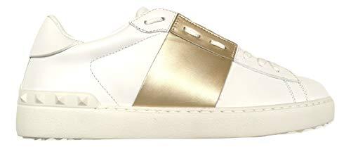 Valentino Sneakers Herren NY2S0830 L71 Weiß Gold (40.5 EU - 6.5 UK)