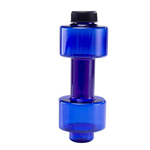 FAVOMOTO Botella de Agua para Deportes con Mancuernas Botella de Agua para Espacios de plástico Botella de Agua para Baja Temperatura para Deportes Ejercicio Fitness (Azul)
