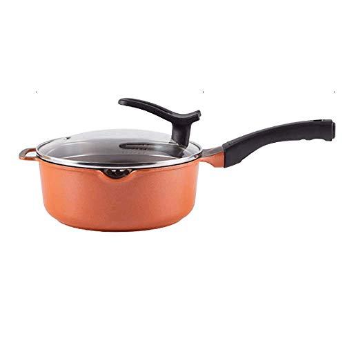 Antiadhésives et Woks Poêlées casseroles avec couvercle, cuivre poêlon avec poignée de soutien en acier inoxydable poignée, Sauteuse for induction, gaz, électrique JIAMING