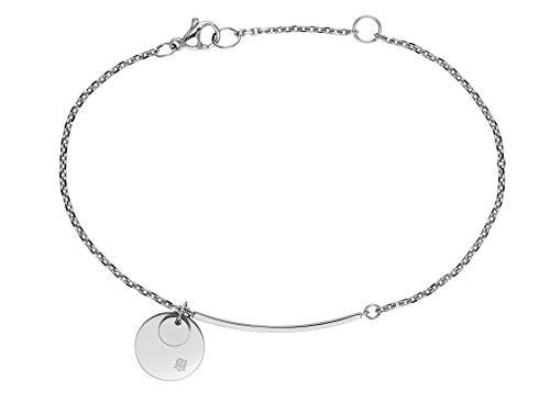 Tommy Hilfiger Women's Jewelry Stainless Steel Disc Bracelet, Color: Silver (Model: 2780259)