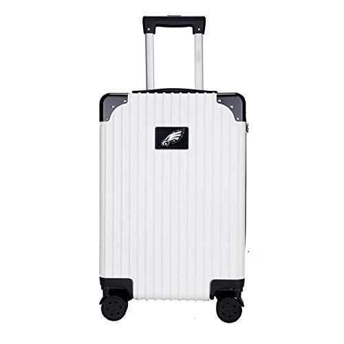 Denco NFL Philadelphia Eagles Two-Tone Premium Carry-On Hardcase Luggage Spinner