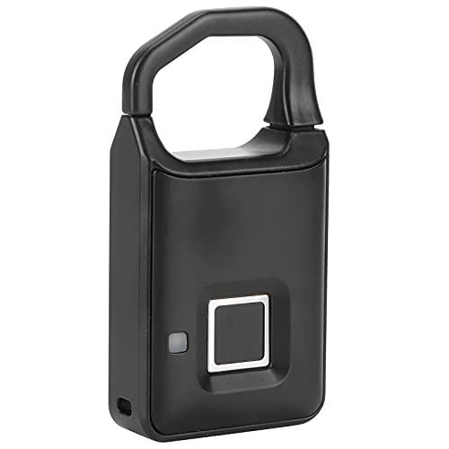 Candado con huellas dactilares, inteligente, digital, sin llave, antirrobo, USB, recargable, fuerte, pequeño candado, abierto con un toque, duradero, con huella dactilar para maleta, mochila, bolsa
