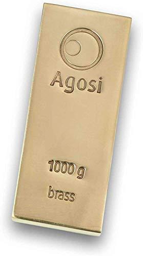 1000g Buntmetallbarren von Agosi Kupferbarren Messingbarren Bronzebarren Aluminiumbarren Titanbarren (Messingbarren)