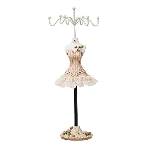 Wean Expositor de joyas de torre para colgar con ganchos para joyas, pendientes, collares, pulseras, maniquí