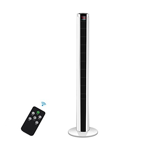 FANS MAZHONG Remote Control Electric Tower Home Leafless Ultra Quiet