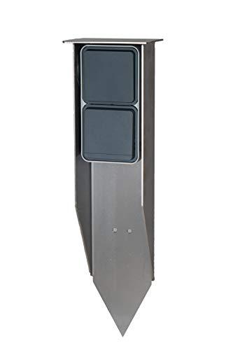 Jehoka E-Spieß 400 ausgestattet mit Berker Schalter & Steckdose (grau)
