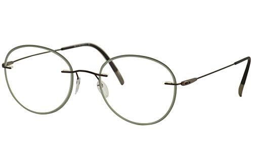 Silhouette occhiale da vista Dynamics Colorwave Accent Rings 5500 GY 6140 dark brown/spruce green