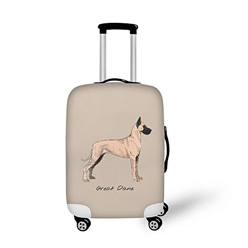 Travel Luggage Cover, Protective Washable Suitcase Cover, Great Dane, Dog Lover, XL Size Elastic Spandex Suitcase Protector Fits 18 To 32 Inch Luggage