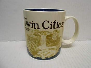 Starbucks Global Icon Collector Series 16 oz Coffee Mug Cup Twin Cities Minneapolis / St Paul Minnesota