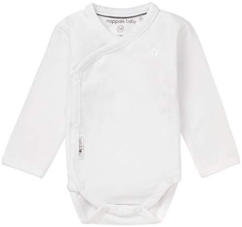 Noppies Unisex - Baby Spieler U Romper Ls Ziara, Einfarbig, Gr. Neugeborene (Herstellergröße: 68), Weiß