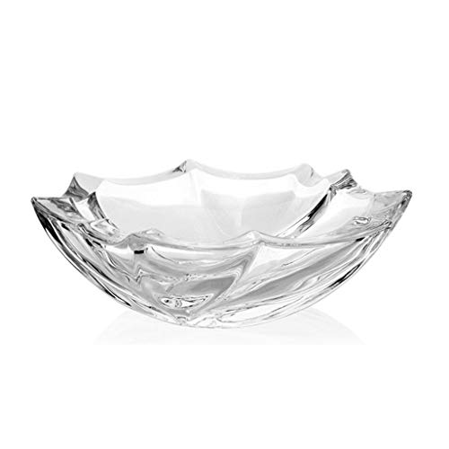 WGZ- Thicken glazen asbak Crystal Clear zware rook Office Living Room Bar Decoration Home (Shape : A)