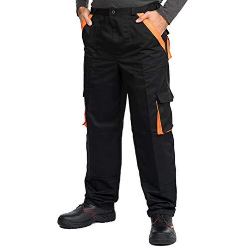 Mazalat® Arbeitshosen männer Herren mit Kniepolstertaschen, Arbeitshose Bundhose, S - XXXL (XL, schwarz)