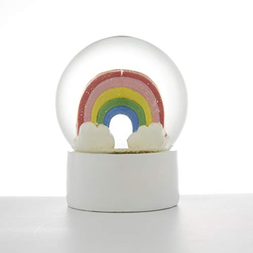 Sette Decor Rainbow Snow Globe Water Globes 4 Inch Desk Decor Home Decoration for Girls Kids Child Granddaughters Babies Birthday Gift, 100 Mm Resin/Glass Snowglobe