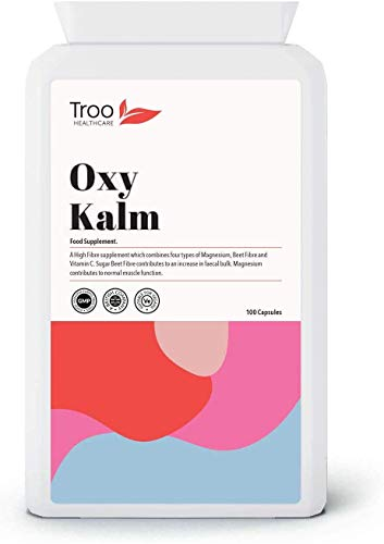 Oxy Kalm Supplement - 100 Capsules | Magnesium, Vitamin C and Fibre Complex | UK Manufactured to GMP Standards