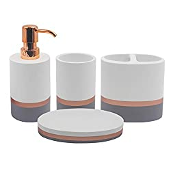 TOPSKY 4 Pieces Bathroom Accessories Set