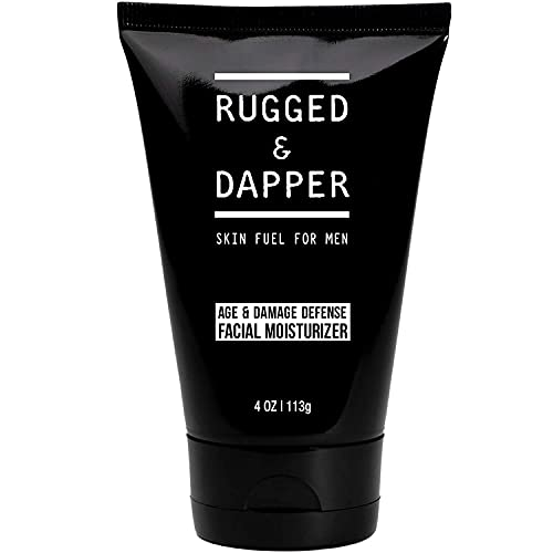 RUGGED & DAPPER Age + Damage Defense Facial Moisturizer | Dual Purpose Face Lotion & Aftershave for Men - 4 Oz