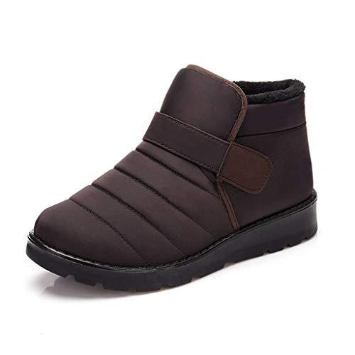 Winterschuhe Winterstiefel Wasserdicht Schneestiefel Winter Boots Warm Fell Gefüttert Stiefeletten Herren Damen Herren,Braun,EU44=CN46