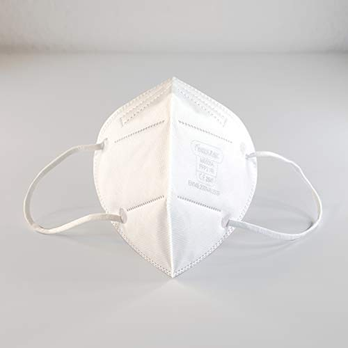 10 STK. FFP2 Premium Atemschutzmasken in hygienischer luftdichter Einzelverpackung mit CE (NB2841), vom Deutschen Hersteller mit DEKRA ISO 9001 Zertifikat für Qualitätsmanagementsystem