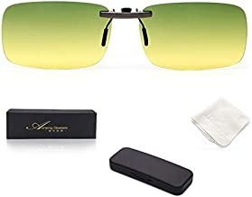 AoHeng Polarized Sunglasses Clip on Glasses for Night Driving,Both Day and Night