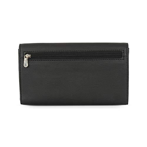 Baggit Autumn-Winter 2020 Faux Leather Women's Harmonium Wallet (Black) (Lwxe Many)