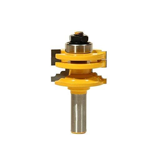 L-Yune, 1pc / 2pcs 8 mm / 12,7 mm 1/2 Pulgadas caña Puerta de Vidrio y Carril Reversible Stile Router bits de Madera Herramienta de Corte Router (tamaño : 1Pc 12.7mm)