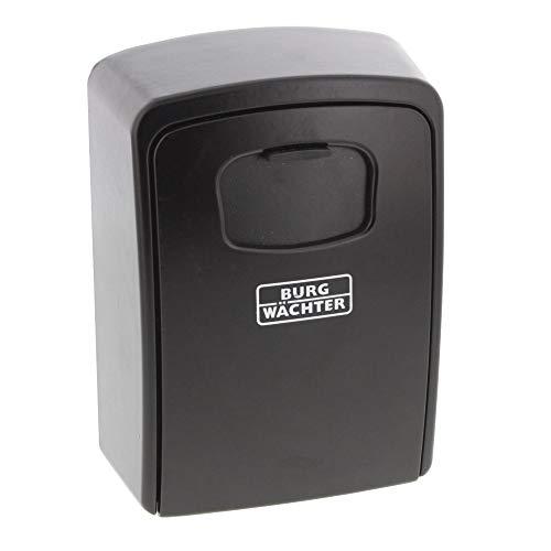 BURG-WÄCHTER Schlüsseltresor mit 4-stelligem Zahelncode für außen und innen, Sicher, Groß, Wandmontage, Key Safe 40 SB, Schwarz