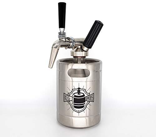 Keg Smiths Nitro Cold Brew Keg System - Nitrogen Portable Draft Keg with Stout Faucet