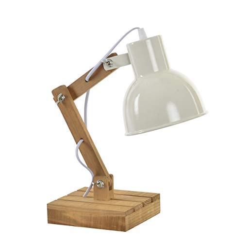 Tischlampe Stehlampe Industrie - Design Atelier, Loft - verstellbar - Materialmix/Holz/Eisen ca 39...