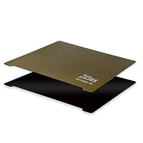 Neuer Ziflex PEI: Texturiert auf einer Seite, glatt auf der anderen, flexible und magnetische 3D-Druckplattform, starke Haftung und einfache Entfernung (254 x 241 mm/ Kompatibel mit Pruska MK3).