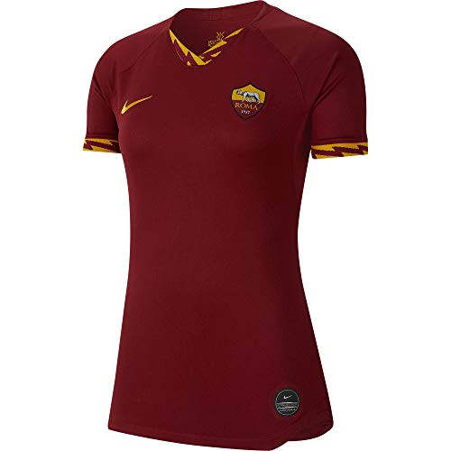 NIKE Roma W Nk BRT Stad JSY SS Hm Camiseta, Mujer, Team Crimson/University Gold, XS