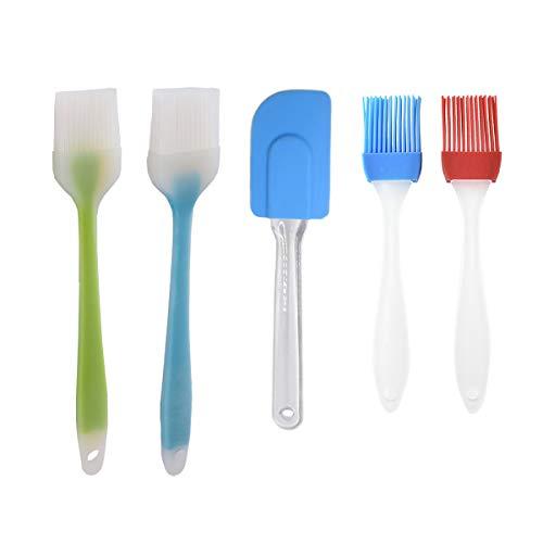 Heatigo - Brocha de Silicona para Hornear, brocha para Barbacoa, Cepillo para Mantequilla, Cepillo para Hornear, Cepillo para Barbacoa, 5 Unidades