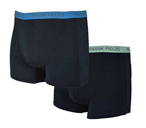 Frank Fields 2 Bamboo Boxershorts voor heren, retro broek, maat 5/M tot 9/XXXL bamboe viscose modal nauwsluitend soepel ademend