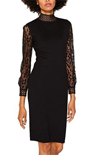 ESPRIT Collection Damen 119EO1E009 Kleid, Schwarz (Black 001), X-Large (Herstellergröße: XL)