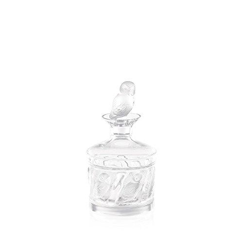 Lalique Owl Decanter, 9.25in