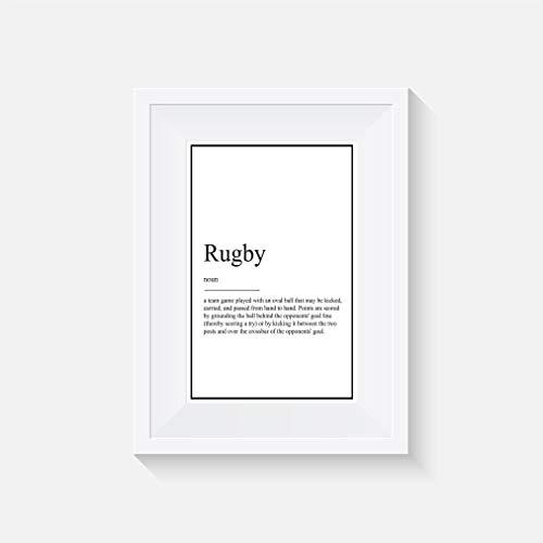 Rugby - definition - Funny - Inspiriert - Drucken - Poster - Aquarell - Wandkunst- verschiedene Größen(Rahmen Nicht Inbegriffen)