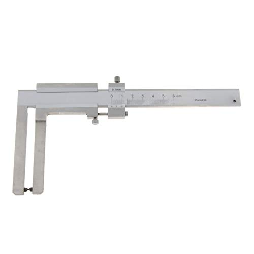 Cheap Flameer Disc Brake & Tyre Wear Thickness Vernier Caliper 0-60mm X 0.1mm, Made of Hardened Stai...