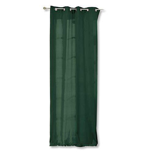 Loberon Vorhang Miko, Baumwolle, H/B ca. 250/140 cm, grün