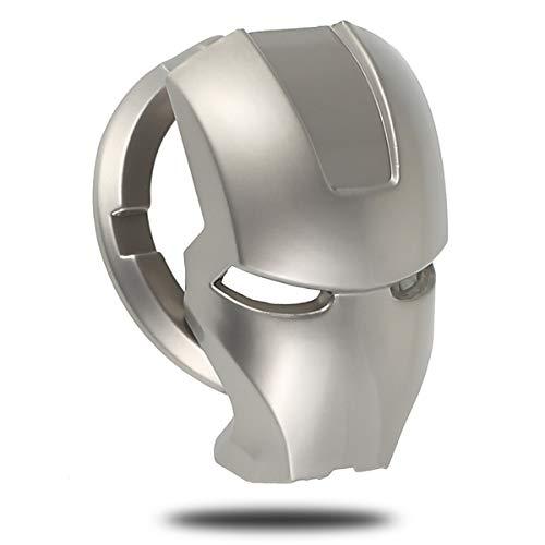 FA.cbj3 Cubierta de botón de Inicio de Iron Man, Cubierta de botón de Interruptor de botón de Parada de Inicio Fresco, protección antiarañazos de Coche de Personaje de Anime 3D