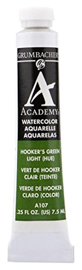 Grumbacher Academy Watercolor Paint, 7.5ml/0.25 oz., Hooker's Green Light Hue (A107)