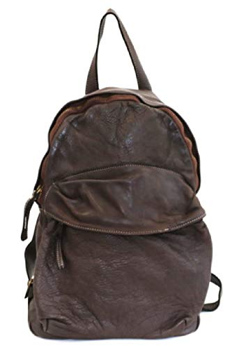 BZNA Bag Noah braun moro Backpacker Designer Rucksack Damenhandtasche Schultertasche Leder Nappa ItalyNeu