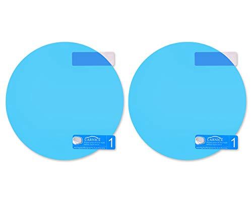 SCSpecial Auto Seitenspiegel wasserfeste Anti-Fog-Folie - Blendschutz Anti-Beschlag-Aufkleber - Um Außenspiegel klar in regnerischen Tagen zu sehen (rund)