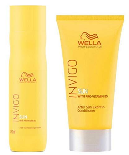 Wella professionnels Soleil Cheveux et Corps Shampoing 250 ml et après-shampoing Express 200 ml