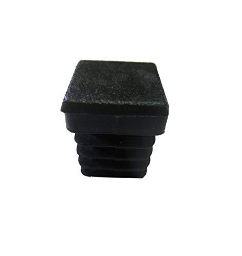 Contera cuadrada, taco plástico negro, bolsa con 10 unidades (40X40)