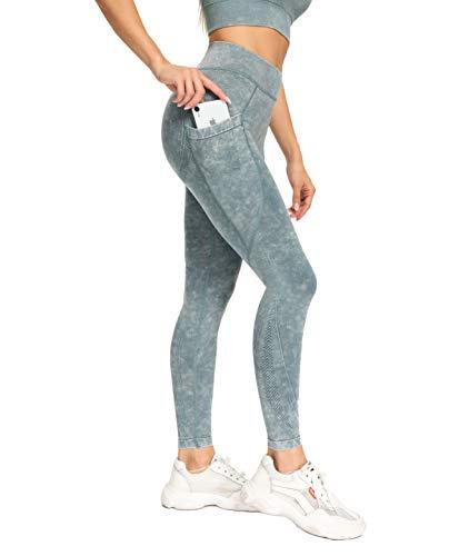 LOFHAS Pantaloni Sportivi da Donna a Vita Alta Legging Lungo Opaco con Tasca Leggings Sportivi da...