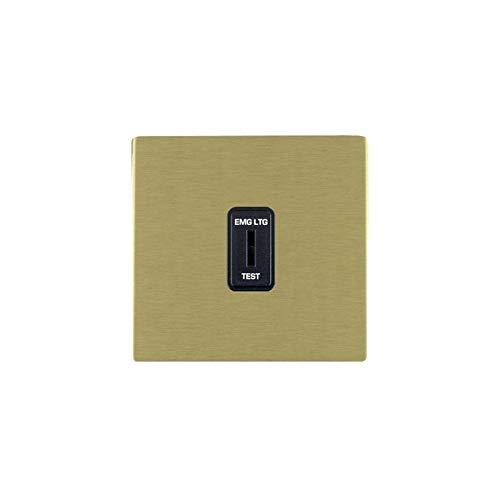 Hamilton LiteStat 82CKELB - Interruptor de llave (latón satinado), color negro