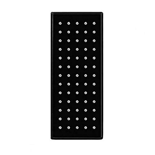 GGOOD Nariz Pendientes Acero Fino Stud Perforación del Cuerpo cúbico Pendientes de Plata con Incrustaciones de Zirconia 60pc, Pendiente