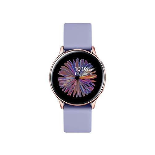 Samsung Galaxy Watch Active2 Smartwatch Bluetooth 40 mm in Alluminio e Cinturino Sport Violet, con GPS, Sensore di Frequenza Cardiaca, Tracker Allenamento, IP68, Gold Rose, Versione Italiana