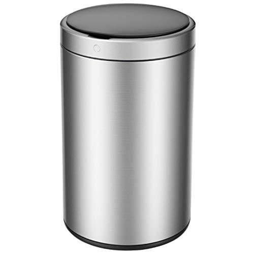 Trash Can Smart-Trash Can-Edelstahl-automatische wasserdichte Mehrzweck-Haushalt Schlafzimmer Wohnzimmer Küche Badezimmer Büro 1 Stück 25 * 34,5 cm 9L